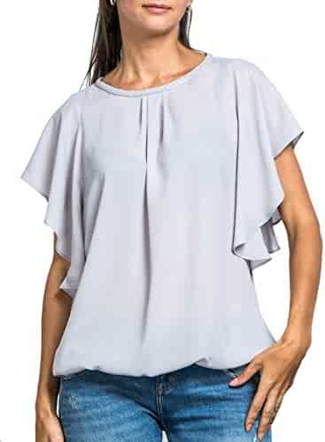 e8b5ba871e090 Everyday Womens Angel Sleeve Top