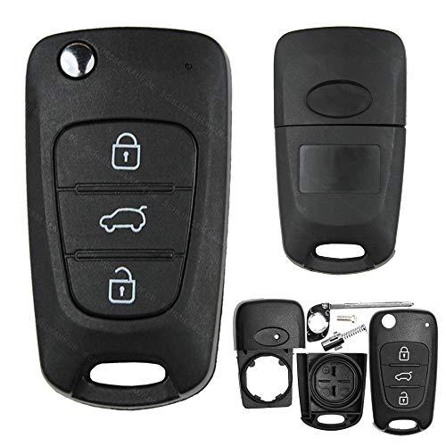 Autosleutel autosleutel sleutelbehuizing draadloze afstandsbediening klapsleutel 3 toetsen sleutel blanco toetsenbord…