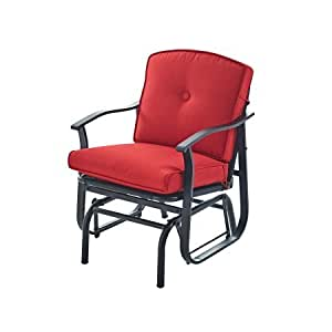 Amazon Com Mainstays Belden Park Cushioned Glider Chair