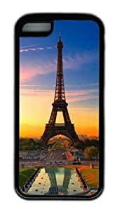 Beautiful Eiffel Tower 001 Iphone 5C Rubber Shell Case with Black Edges by Lilyshouse
