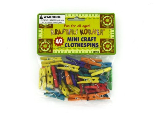 Miniature Craft Clothespins - Case of 48 by krafters korner