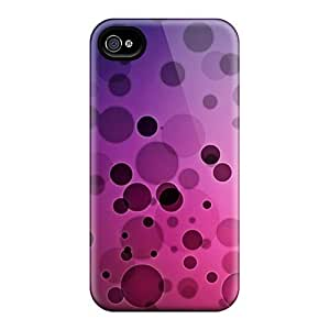New Premium XasFBNt3870hcXJL Case Cover For Iphone 4/4s/ D Graphics Limelights Circles Bubbles Protective Case Cover