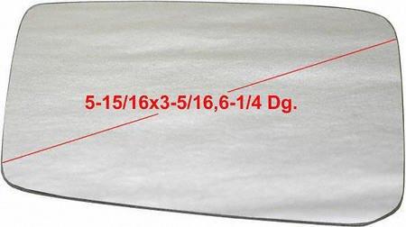 UPC 723651586678, 80-82 NISSAN PICKUP MIRROR GLASS LH (DRIVER SIDE) TRUCK, (5-15/16 x 3-5/16, 6-1/4 Dg.) (1980 80 1981 81 1982 82) N471106 N/A
