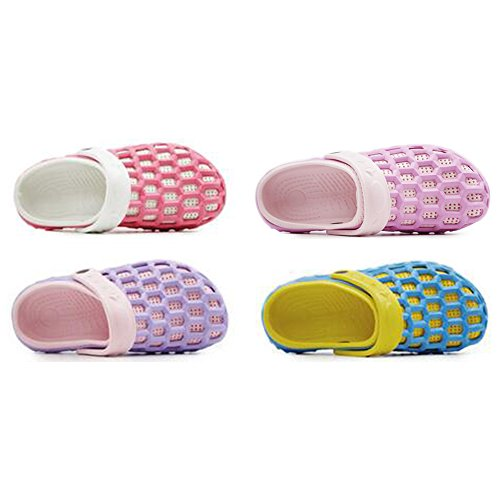 Eastlion EVA Couple Beach Garden Shoes Summer Fashion Casual Half Slippers For Lovers Female Style 2 Purple PmOzai
