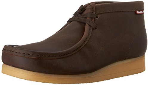 Clarks Men's Stinson Hi Chukka Boot,Brown Oily Leather,13 M US ()