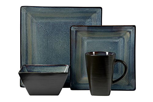 Oneida Adriatic 16pc Dinnerware Set, Blue