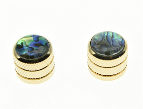 Gold Dome Knobs - KAISH 2pcs Gold Push on Fit Abalone Top Guitar Dome Knobs or Bass Knob Fits Tele Telecaster