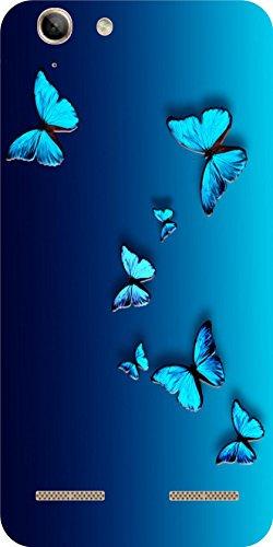 Shengshou Butterfly Design Mobile Back Cover for Lenovo Vibe K5 Plus   Blue