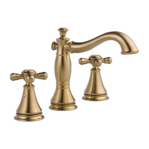 Delta KLDCA-WS-3597H295-CZ-2 Cassidy Lavatory Faucet Kit with Metal Cross Handles, Champagne Bronze