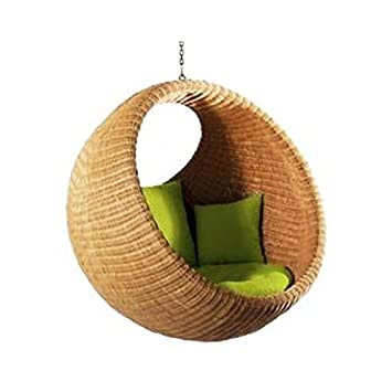 IRA WITH WORD DWELL IN COMFORT Rattan Modern Swing Chair