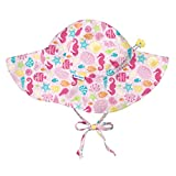 i play. Girls' Toddler Brim Sun Protection Hat-Pink Sealife-2T/4T, Sealife, 2T/4T