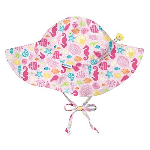 i play. Baby Girls Brim Sun Protection Hat-Pink Sealife-9/18mo, Sealife, ()