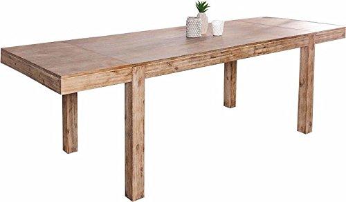 Comforium Table A Manger Extensible 160 240 Cm En Bois Massif Acacia