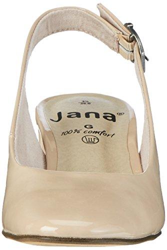 Jana 29503, Sandalias con Cuña para Mujer Beige (Dune Patent 406)