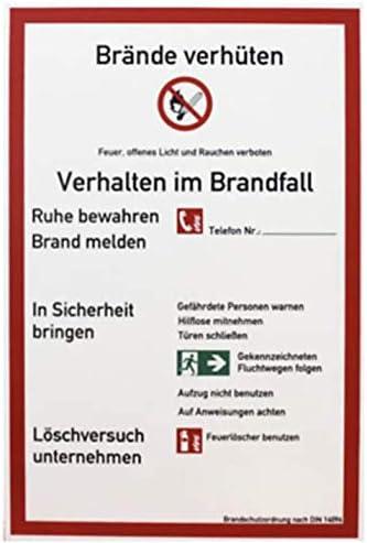 Brandschutzordnung Teil A Brände DIN 14096 nur Feuerlöscher ohne Wandhydranten von MBS-FIRE