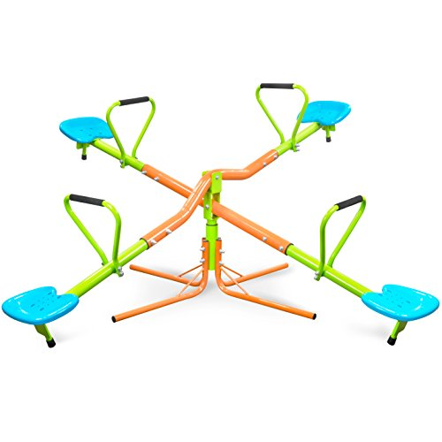 - Pure Fun 360 Quad Swivel Kids Seesaw