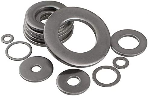 A2 304 Stainless Steel Flat Washers Fit Metric Bolts//Screw M3-M20 Thick=0.5mm