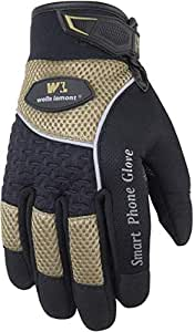 Wells Lamont Touch Screen Work Gloves, Synthetic Leather