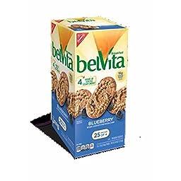 Belvita Blueberry Breakfast Biscuits, 25 Count