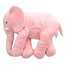 WDA 21 Inches Baby Elephant Sleeping Pillows Plush Stuffed Elephant Toys (Pink)