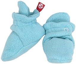Zutano Unisex-Baby Newborn Cozie Fleece Bootie, Pool, 3 Months