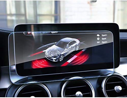 XHULIWQ スクリーンプロテクターカーナビゲーションスクリーン9H強化ガラスデイリープロテクションスクリーン、メルセデスベンツC-CLASS W205 10.25インチ用