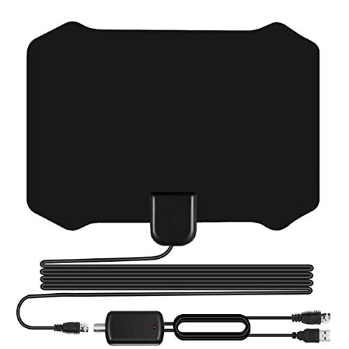 Sodysnay W222 Skywire TV Antenna for Digital TV Indoor, Amplified HD Digital TV Antenna with 120 Miles Long Range, Support 4K 1080P & All Older TV's for Indoor with Powerful HDTV Amplifier
