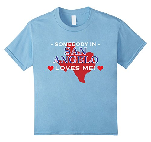 Kids Somebody in San Angelo Loves Me T-Shirt | Texas TX Gift 8 Baby - San Angelo Women