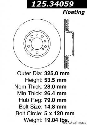 Centric 125.34059 Front Brake ()