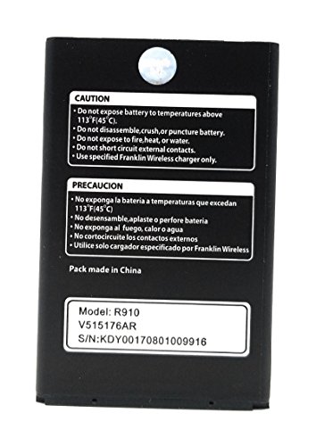 World Star Replacement Battery R910 3000mAh 3.8V For Mobile HotSpot Franklin Wireless R910 (2 Year Limited Warranty) by JORA Trading Inc.
