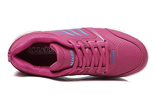 No.66 Town Womens Platform Waiking Loopschoenen Fashion Jogging Sneakers Maat 8.5 Rose Rood