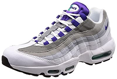 Nike Women's WMNS Air Max 95 Trainers, Multicolour (White/Emerald Green/Wolf Grey/Court Purple 109),