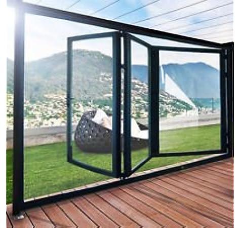 Slimline aluminio plegable puertas (100 mm) – 5 paneles barnizados: Amazon.es: Bricolaje y herramientas