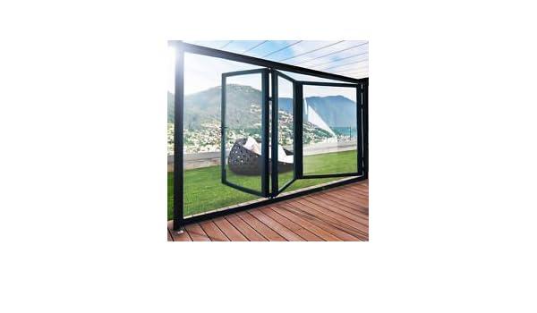 Slimline aluminio plegable puertas (100 mm) – 4 paneles preglazed: Amazon.es: Bricolaje y herramientas