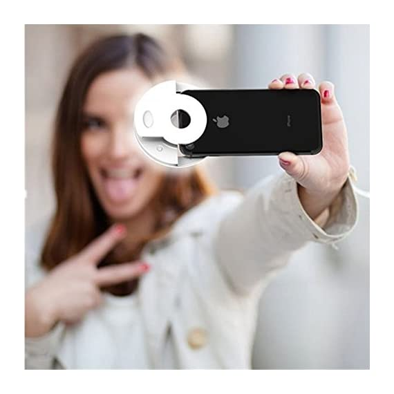 KAMII Selfie Ring Light - 3-Level Brightness Selfie Light LED for iPhone 7 Plus/ 6S Plus/ 6S/ 5S, Samsung Galaxy S8 Plus/ S8/ S7 Edge/ S7 and Smartphones/ Tablets, Great for Applying Make Up 5 3 LIGHT SETTINGS - Adjustable from light to super bright. Great for selfies and nighttime. Portable, super light-weighted, just put it in your bags or even in your pockets. - Made from high quality plastic and LEDs, Lightsome and functional plastic, durable and shockproof.