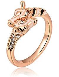 Women Ring Simple Alloy Giraffe Rings WG Size 8