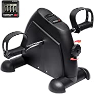 iHomey Pedal Exerciser Portable Mini Exercise Bike Trainer for Arm and Leg with LCD Digital Monitor (Black)