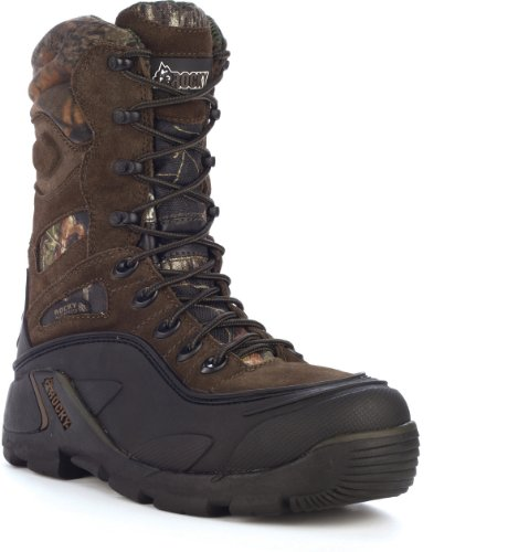 Rocky Men's FQ0004753 Mid Calf Boot, Dark Brown, 12 M US