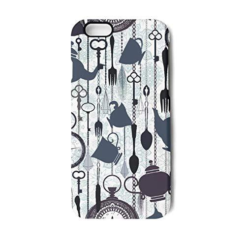 iPhone 6 Plus Case,iPhone 6s Plus Case Vintage hot Tea time Theme Slim Fit Matte Anti-Scratch Slip Cover Shock Absorbent TPU Bumper Case Apple iPhone Case -
