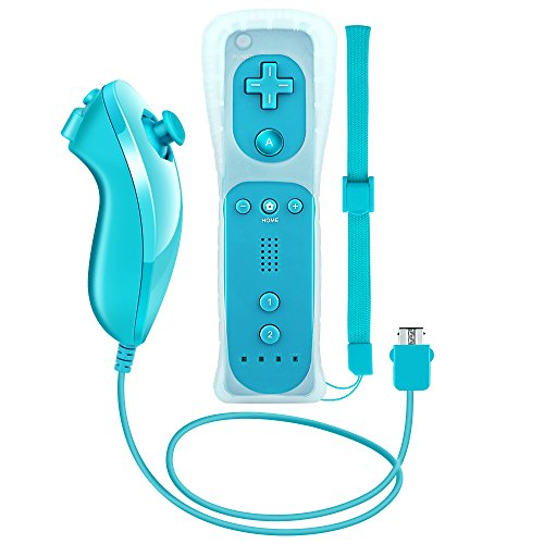 RC01 Wii Remote and Nunchuck Controller for Wii + Free Silicone case(Light ()