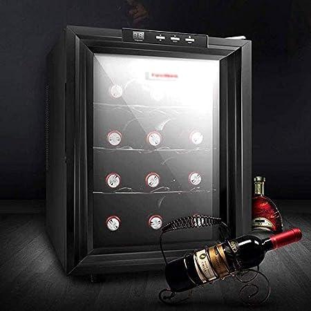 YFGQBCP Enfriador de Vino Frigorífico, Blanco y Rojo Vino Frigorífico Chiller encimera Enfriador de Vino, Independiente Compacto Mini Vino Frigorífico 12 Capacidad de la Botella, de Control Digital