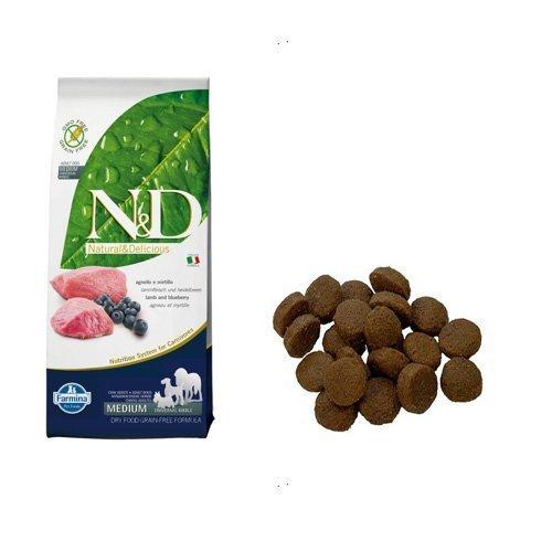 Farmina Natural and Delicious Grain-Free Formula Dry Dog Food, 26.5-Pound, Lamb by Farmina