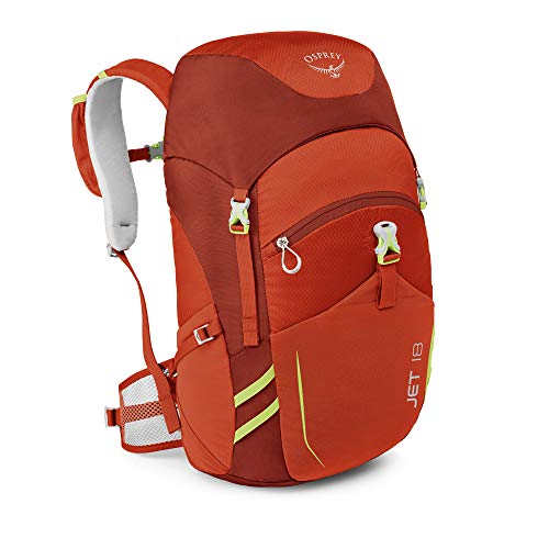 Osprey Packs Jet 18 Kid's Backpack, Strawberry Red, One - Jet Child Backpack Pack