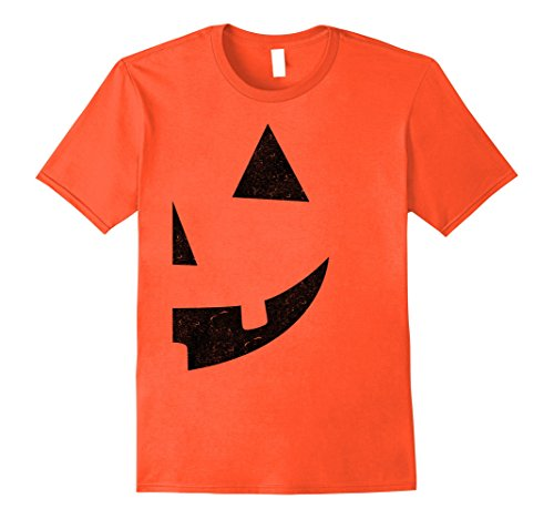 [Mens Jack O Lantern T-shirt Jackolantern Couple Halloween Costume Medium Orange] (Cool Couple Costumes)