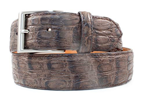BRYANT PARK BP4913-22 42 Genuine Vintage Caiman Crocodile Belt 1.5