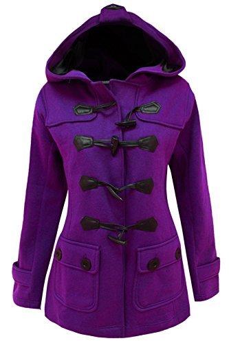 bascule CAPUCHE coat Pourpre VESTE cexi FEMMES POLAIRE FEMMES HIVER duffle COUTURE Igww4qXxaT
