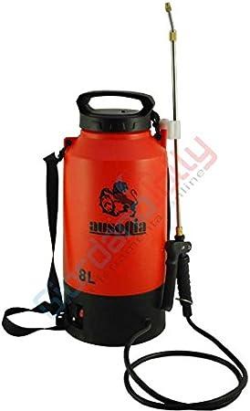 AUSONIA - 38001 BOMBA ELÉCTRICA DE MOCHILA DE 8 LITROS Batería de 12V/10AH. Duración de la carga de aproximadamente 2 horas. Peso de 2,6 kg