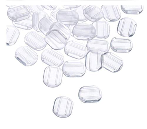 VANVENE 24 Clear Comfort Pads Earring Cushion for Clip on Earrings
