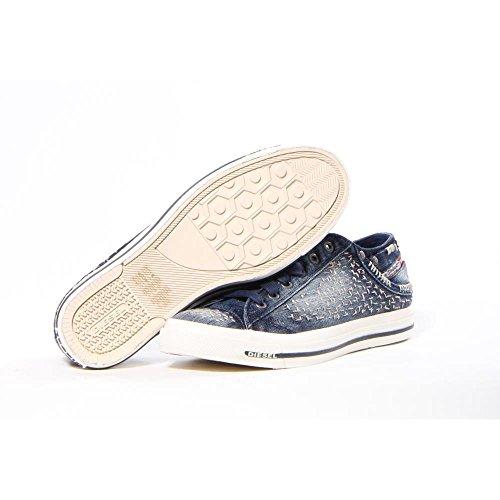 Diesel Exposure Low I Hombres Moda Zapatos Indigo color crudo ligero