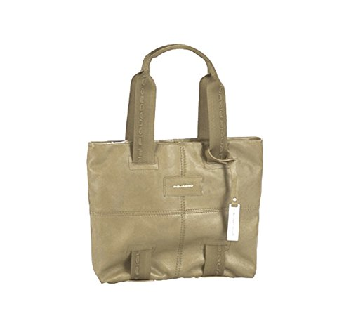 Shopping bag media Piquadro, colore beige BD2587W48/BG